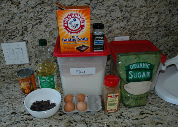 ingredients-for-pumpkin-cupcakes